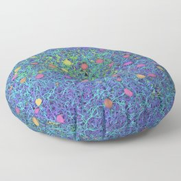 Starry Starry Night Neurons Floor Pillow