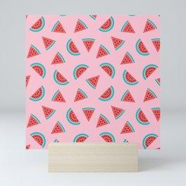 Watermelon Fruit Pattern Mini Art Print