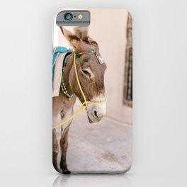 Santorini 0009: Donkey in Pyrgos, Santorini, Greece iPhone Case