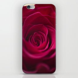 Centre of a red rose iPhone Skin