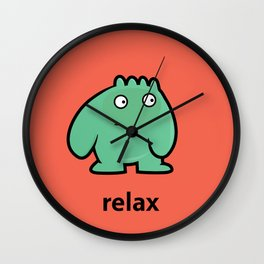relaxed creature Wall Clock