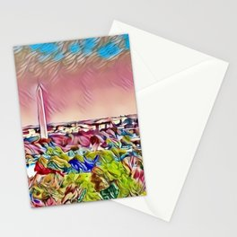 Washington, D.C., Capital Hill Mosaic Skyline landscape Stationery Cards