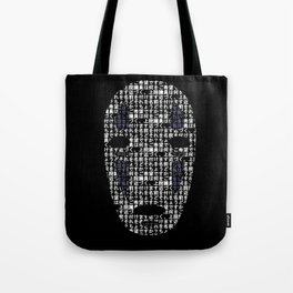 No-Face Mask Typograph Tote Bag