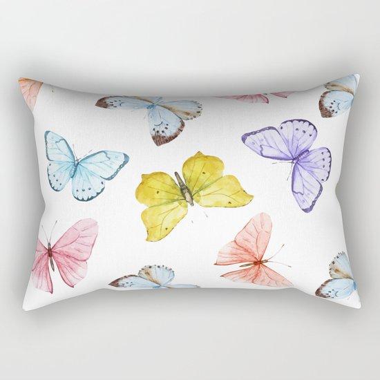Butterfly Pattern 04 Rectangular Pillow