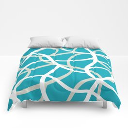 ABSTRACT LINES 001 Comforters