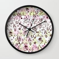 tattoos Wall Clocks featuring TATTOOS LOVE by Stylegrafico