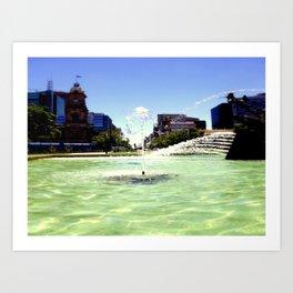 Victoria Square - Adelaide Art Print