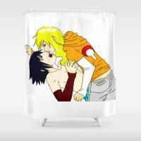 sasuke Shower Curtains featuring Sasuke y Liara by rosalia