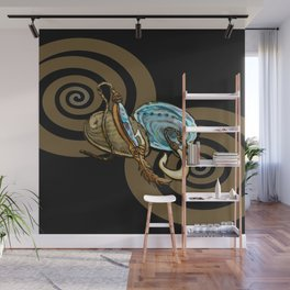 Abalone with Historic Maori Fishing Hooks Wall Mural