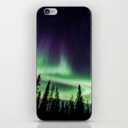 Aurora during geomagnetic storm in Yellowknife, Canada iPhone Skin