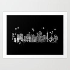 San Francisco, California City Skyline Art Print