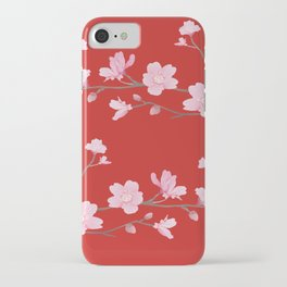 Cherry Blossom - Red iPhone Case