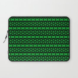 Dividers 02 in Green over Black Laptop Sleeve