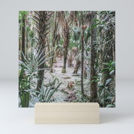 Palm Trees in the Green Swamp Mini Art Print