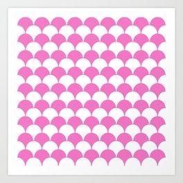 Fan Pattern 321 Pink Art Print