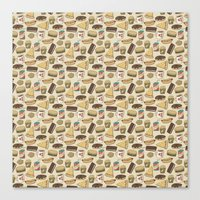 junk food Canvas Prints featuring Junk Food by Kayla Miller