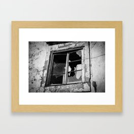 Broken window Framed Art Print
