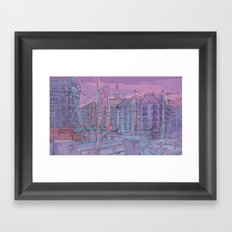 Budapest through pencil Framed Art Print