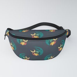 Rabbit and crescent moon Fanny Pack
