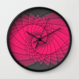 hypnotized - fluid geometrical eye shape Wall Clock