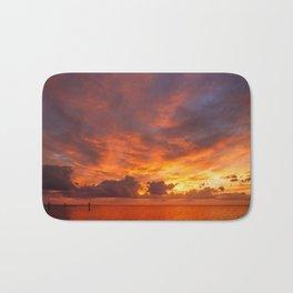 Burning Sunset Bath Mat