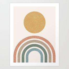 Mid-Century Modern Rainbow Art Print