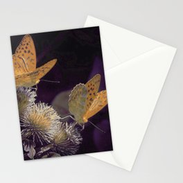 Orange Butterflies I Stationery Cards