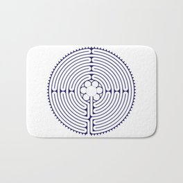 Cathedral of Our Lady of Chartres Labyrinth - Blue Bath Mat