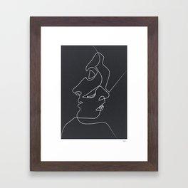Close Noir Framed Art Print
