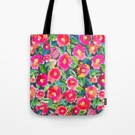 Hot floral mess - Dark Tote Bag