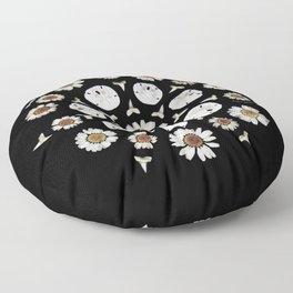 nature mandala... daisies, sand dollars, shark teeth Floor Pillow
