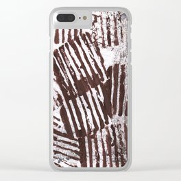 Brown abstract Clear iPhone Case