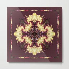 Kaleidoscope No.32 - Frilly Depths in Orchid Metal Print