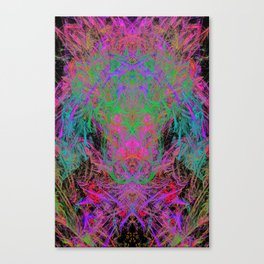 Witch Doctor Fire (psychedelic, ultraviolet) Canvas Print