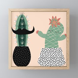 Mr. and Mrs Succulent Framed Mini Art Print