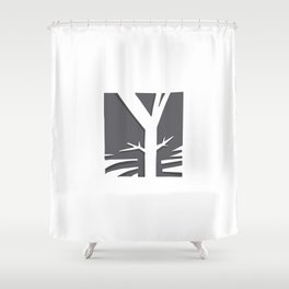 The Y Tree Shower Curtain