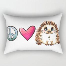 Peace, Love and Hedgehogs Rectangular Pillow