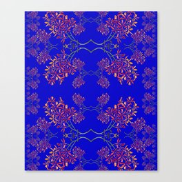 Orchids on Blue Canvas Print