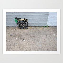 Brompton Folding Bike Art Print
