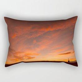 Fire In The Sky Rectangular Pillow