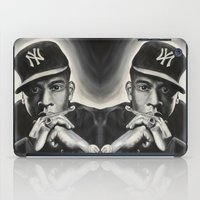 jay z iPad Cases featuring Jay-Z by Sarah Painter