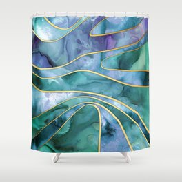 The Magnetic Tide Shower Curtain
