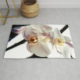 White Orchids Rug