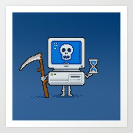 Blue Screen of Death Art Print