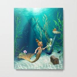Cute Mermaid 2 Metal Print