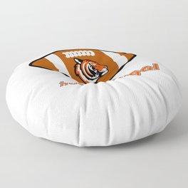 True Bengal American Football Design black lettering Floor Pillow