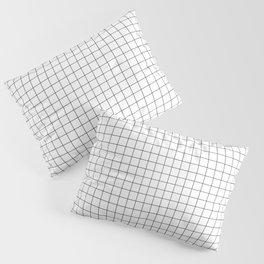 Black and White Thin Grid Graph Pillow Sham