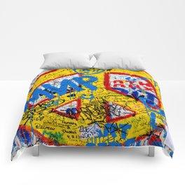 Berlin Wall Comforters
