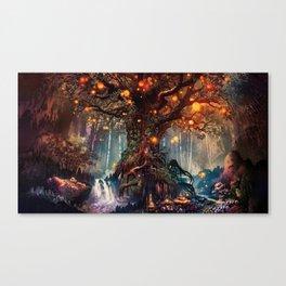 Beautiful Wonderful Mysterious Faisytale Timberland Luminous Balls Dreamy UHD Canvas Print