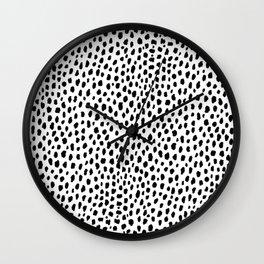 Dalmatian Spots (black/white) Wall Clock